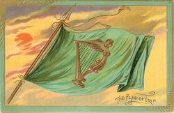 THE FLAG OF ERIN  green flag with harp