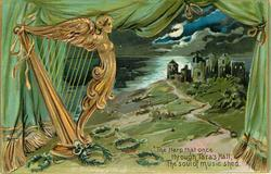 THE HARP THAT ONCE THROUGH TARA'S HALL, THE SOUL OF MUSIC SHED  harp & castle