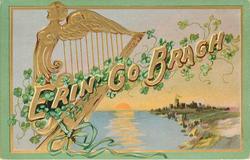 ERIN GO BRAGH  harp & distant castle