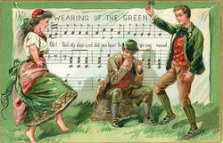 WEARING OF THE GREEN, OH, PAD-DY DEAR AND DID YOU HEAR THE GO-ING ROUND  couple dance to the pipe