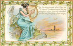 DEAR HARP, OF MY COUNTRY, IN DARKNESS I FOUND THEE, THE COLD CHAIN OF SILENCE HAD HUNG O'ER THEE LONG, WHEN PROUDLY// SONG'  lady plays harp