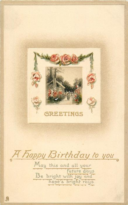 A HAPPY BIRTHDAY TO YOU, GREETINGS