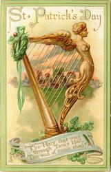THE HARP THAT ONCE THROUGH TARA'S HALL, THE SOUL OF MUSIC SHED'  golden harp