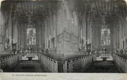 ST. PHILLIP'S CHURCH  interior (Tuck error for ST. PHILIP'S)