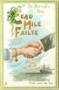 CEAD MILE FAILTE  A HUNDRED THOUSAND WELCOMES A GREETING FROM OVER THE SEA  clasped hands over sea & ship