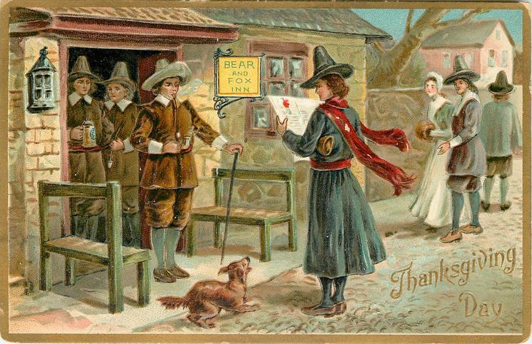 pilgrims at BEAR AND FOX INN