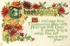 WE WELCOME DEAR THANKSGIVING DAY WITH MUSIC AND WITH CHEER IT SHOWS TO US ITS SMILING FACE BUT ONCE IN EVERY YEAR!