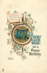 WITH EVERY GOOD WISH FOR A HAPPY BIRTHDAY