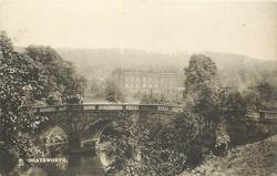 CHATSWORTH  bridge with house in distance