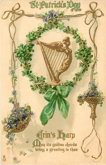 Erins Harp May Its Golden Chords Bring A Greeting To Thee Tuckdb