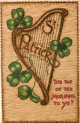 ST. PATRICK  THE TOP OF THE MORNING TO YE?