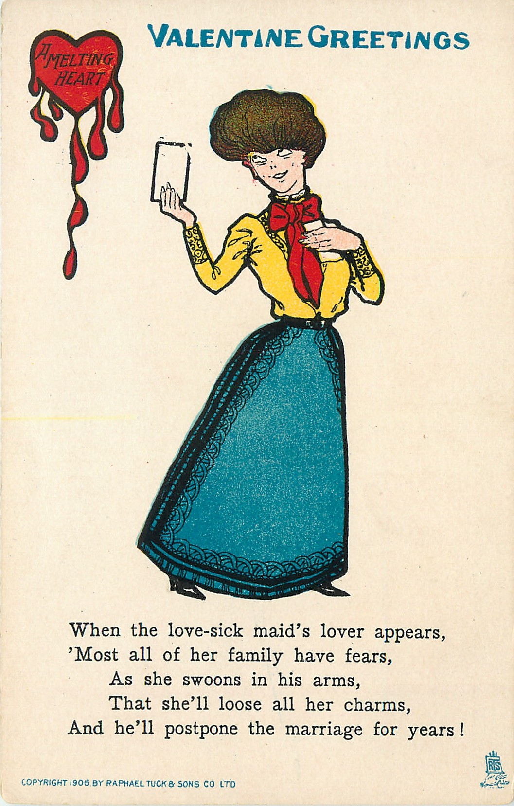 WHEN THE LOVE-SICK MAID'S LOVER APPEARS, 'MOST ALL OF HER ...