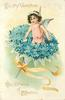 TO MY VALENTINE  AN OFFERING OF AFFECTION  flower angel in bunch of forget-me-nots