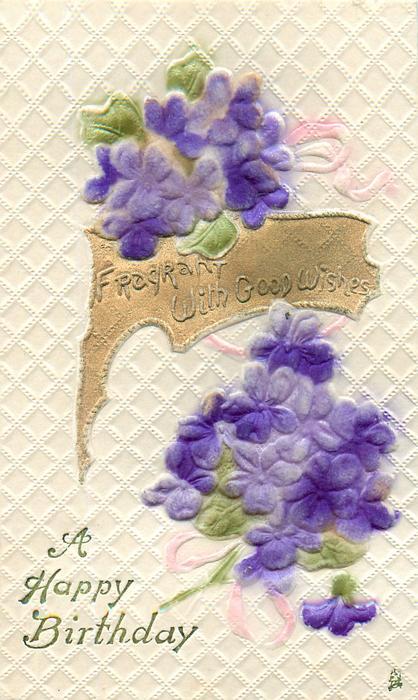 A HAPPY BIRTHDAY  violets
