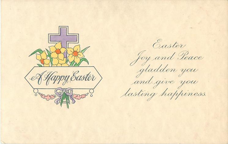 A HAPPY EASTER  floral cross left
