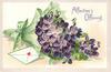 AFFECTION'S OFFERING  bunch of violets & letter