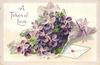 A TOKEN OF LOVE  bunch of violets & letter