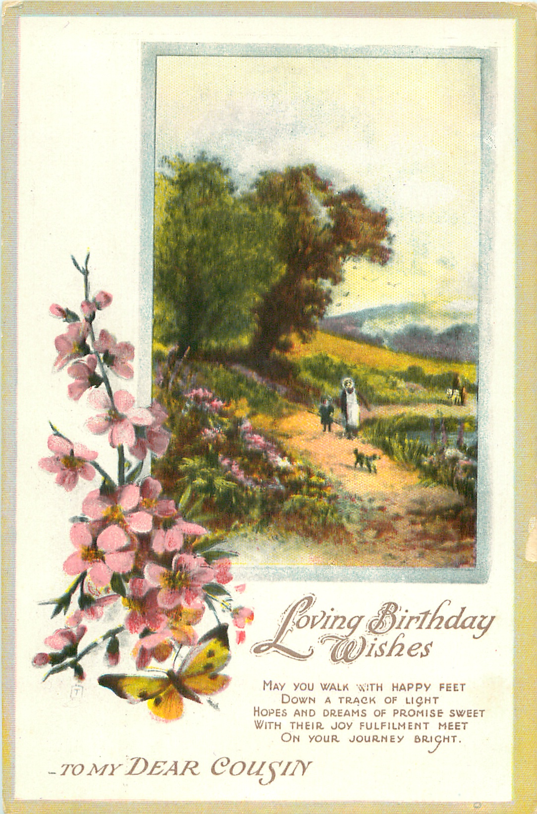 Loving Birthday Wishes To My Dear Cousin Rural Scene
