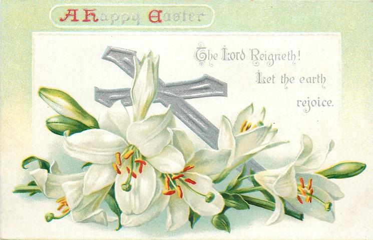A HAPPY EASTER  with lilies