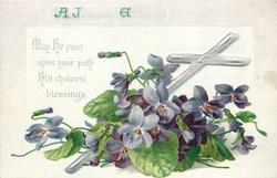 A JOYOUS EASTER  with  violets