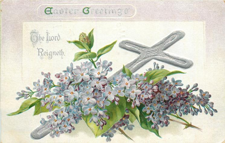 EASTER GREETINGS  with lilac