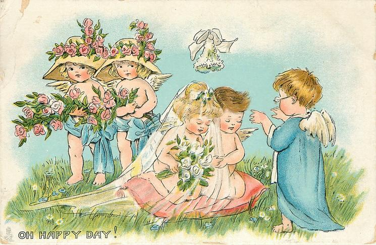 OH HAPPY DAY!  angel presides over cupids marriage