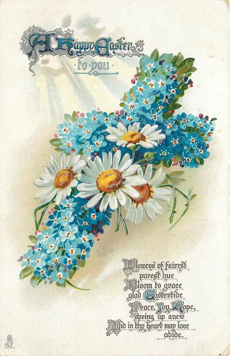 A HAPPY EASTER TO YOU  forget-me-nots-& daisies