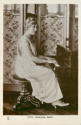 H.R.H. PRINCESS MARY  playing piano