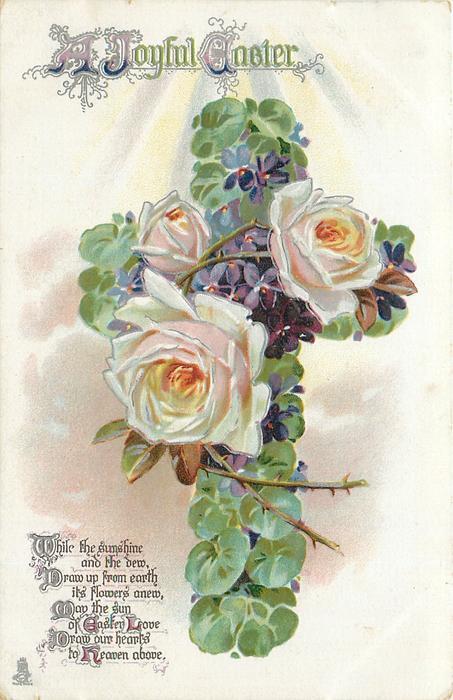 A JOYFUL EASTER  roses & violets