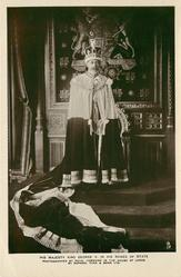 HIS MAJESTY KING GEORGE V. IN HIS ROBES OF STATE