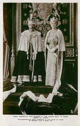 THEIR MAJESTIES KING GEORGE V. & QUEEN MARY IN THEIR ROBES OF STATE  no pages