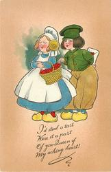 I'D STEAL A TART WERE IT A PART OF YOU, QUEEN OF MY ACHING HEART!  Dutch children