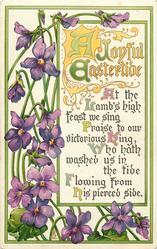 A JOYFUL EASTERTIDE  violets