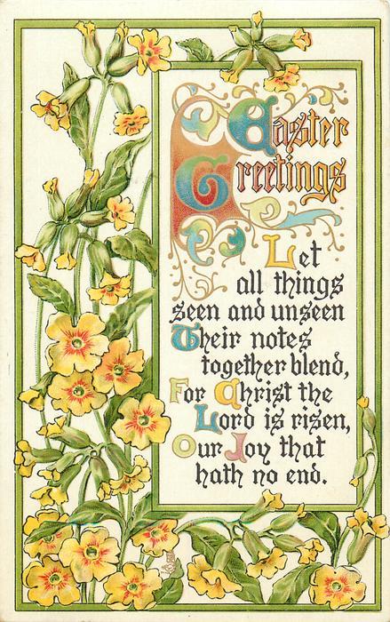 EASTER GREETINGS  primroses