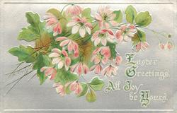 EASTER GREETINGS. ALL JOY BE YOURS  pink blossom