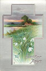 EASTER JOYS  rural inset, snowdrops