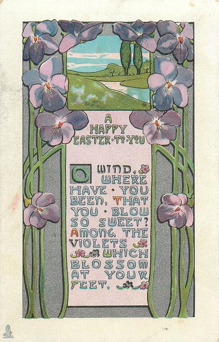 A HAPPY EASTER TO YOU violets