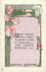 EASTER GREETING sweet peas