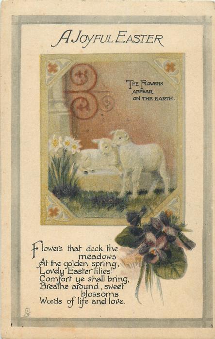 A JOYFUL EASTER  lambs & violets
