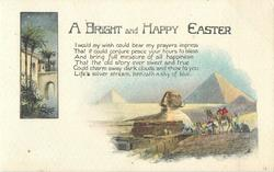 A BRIGHT AND HAPPY EASTER  two egyptian insets