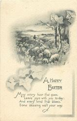 A HAPPY EASTER  sheep & ivy