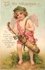I'LL BE YOUR CADDIE ALL MY LIFE, CONSENT, SWEETHEART, TO BE MY WIFE!  cupid as caddie