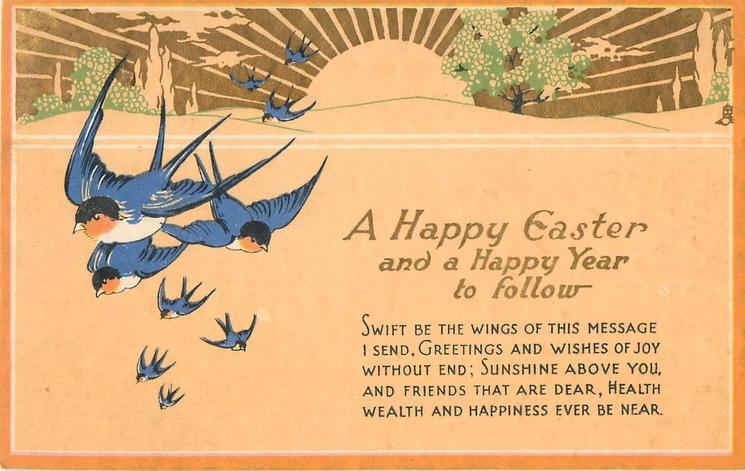 A HAPPY EASTER AND A HAPPY YEAR TO FOLLOW  bluebirds, sun