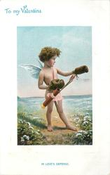 TO MY VALENTINE   IN LOVE'S DEFENSE  cupid in boxing gloves