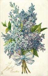 A JOYFUL EASTER  bunch of blue/purple lilacs
