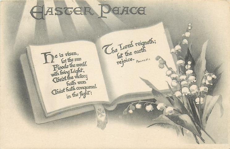 EASTER PEACE  book, lilies-of-the-valley