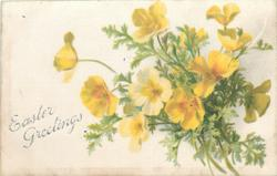 EASTER GREETINGS  bunch of yellow buttercups