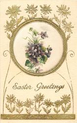 EASTER GREETINGS  violets