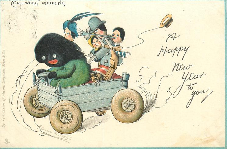 """A HAPPY NEW YEAR TO YOU, """"GOLLIWOGG"""" MOTORING"""