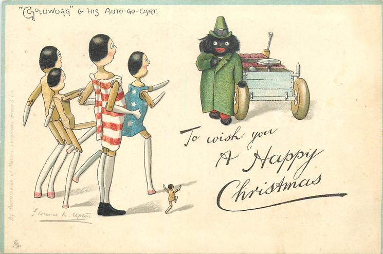 """TO WISH YOU A HAPPY CHRISTMAS, """"GOLLIWOGG"""" & HIS AUTO-GO-CART"""